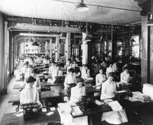 """נשים עובדות בדטרוייט תחילת המאה ה-20 ספריית הקונגרס, ארה""""ב"""